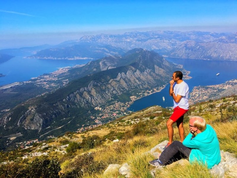 Great Montenegro Tour - Boka Bay view from 25th serpentine – Deep morning thoughts: What's for breakfast?