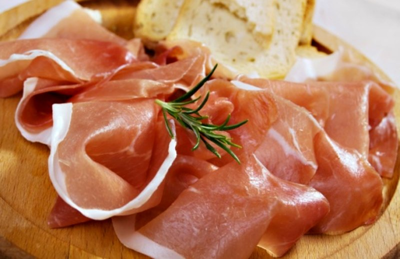 Prosciutto - traditional smoked ham of Montenegro
