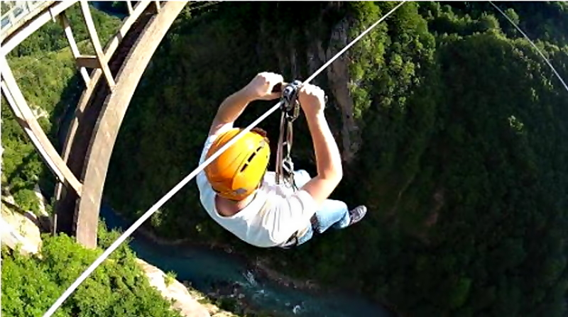 Zip-Line at Tara Bridge