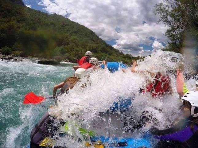 Do not expect to finish rafting dry