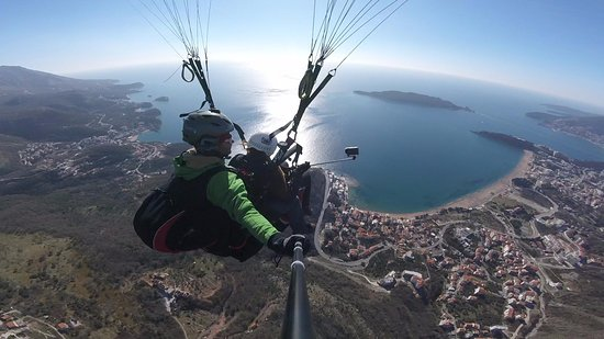 Paragliding above Budva  Once in a lifetime experience in Montenegro!