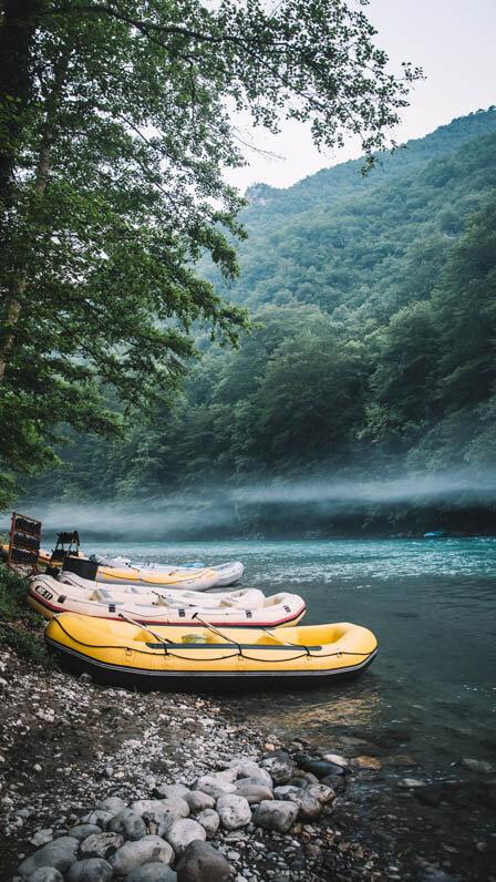 Private Tour Tara River Whitewater Rafting